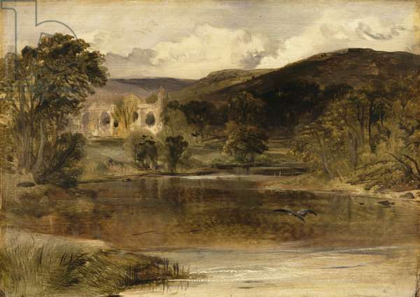 Bolton Abbey, Yorkshire (oil on panel)