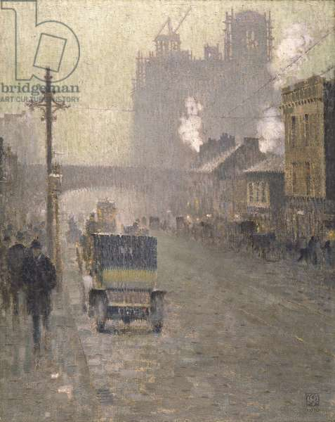Oxford Road, Manchester, 1910 (oil on canvas)