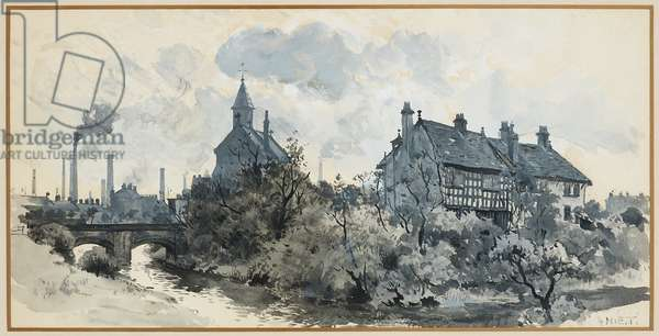 Clayton Old Hall, 1893-94 (Indian ink drawing on paper)