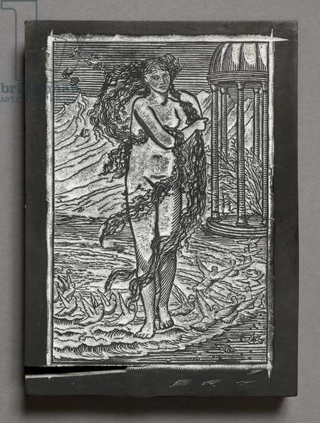 The Story of Cupid and Psyche - Venus, after Edward Coley Burne-Jones (engraved wooden block)