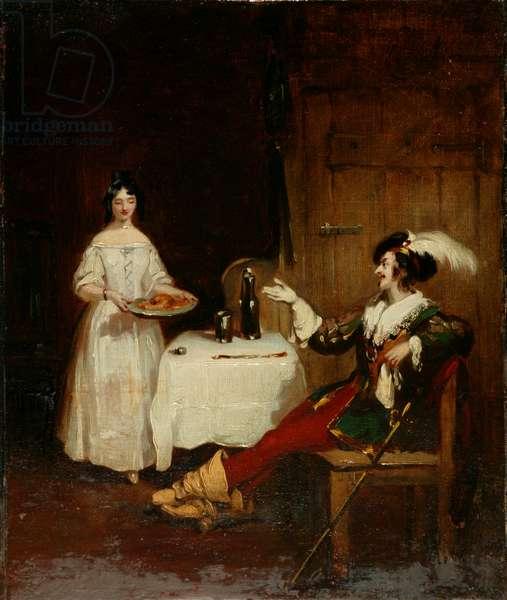 Sir Piercie Shafton and Mysie Harper, c.1831 (oil on canvas)