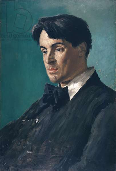 Portrait of William Butler Yeats, 1907 (oil on canvas)