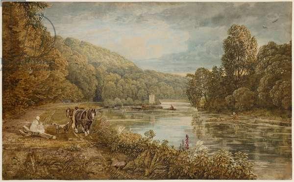 Cliveden Woods, c.1812 (w/c on paper)
