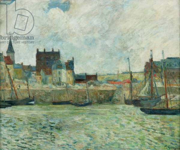 Harbour Scene, Dieppe, c.1885-86 (oil on canvas)