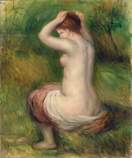 Seated nude (oil on canvas)