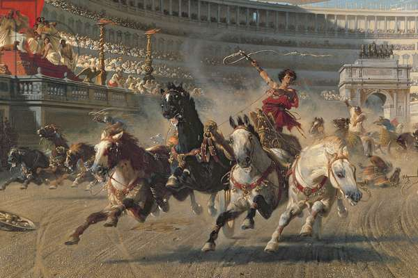 The Chariot Race, c.1882 (oil on canvas) (detail of 201093)