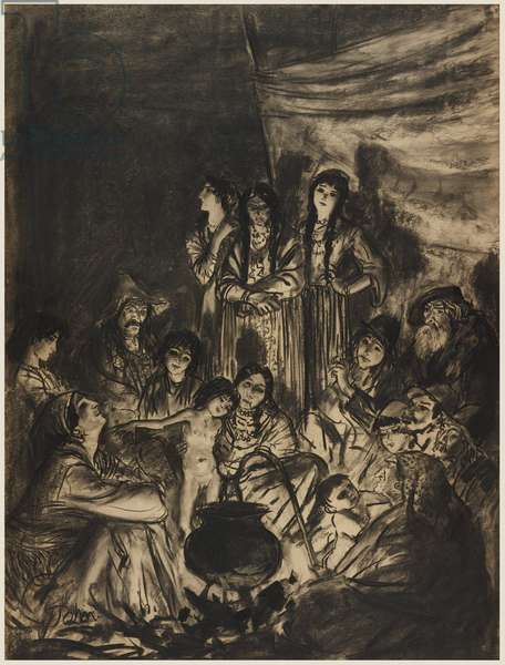Wandering Sinnte, 1909 (chalk on paper)