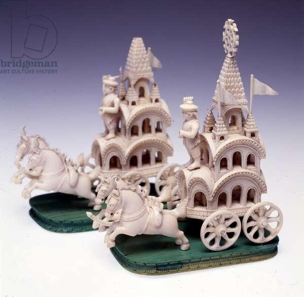 Chess set, c.1795 (ivory & walnut)