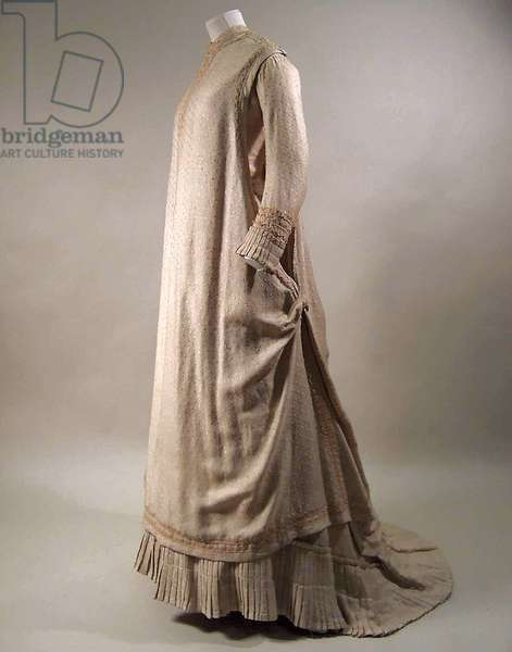 Dress, 1879-80 (silk, cotton and wool)