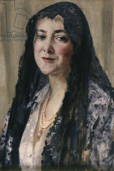 Lady with a Mantilla, 1898/1928 (oil on canvas)