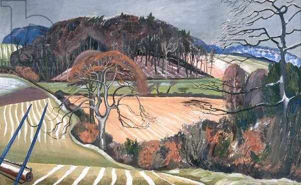 Winter Scene, Buckinghamshire, 1920 (oil on canvas)