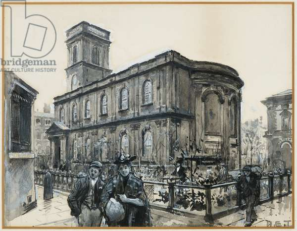 St. Ann's Church from the Alley, 1893-94 (w/c gouache on paper)