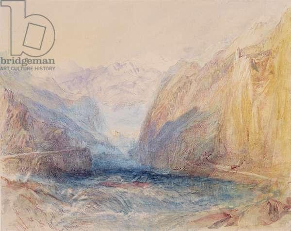 Domleschg Valley, near Rothenbrunnen, looking towards Rhazuns, 1843 (w/c on paper)