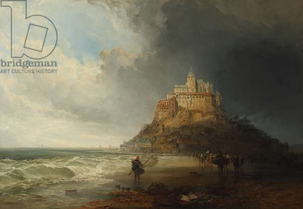 Mont St Michel, 1854 (oil on canvas)
