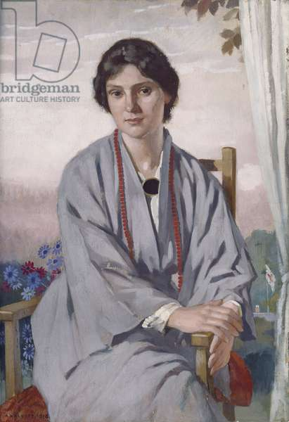 Portrait of May Aimee Smith, 1918 (oil on panel)