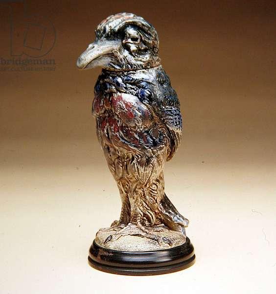 Bird Jar and Lid, 1905 (stoneware)