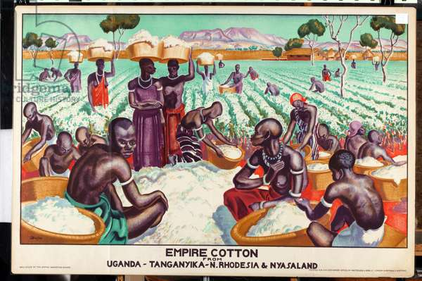 Empire cotton from Uganda, Tanganyika, N. Rhodesia and Nyasaland, 1926-33 (colour litho)