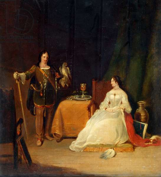 The Betrothed, 1830 (oil on canvas)