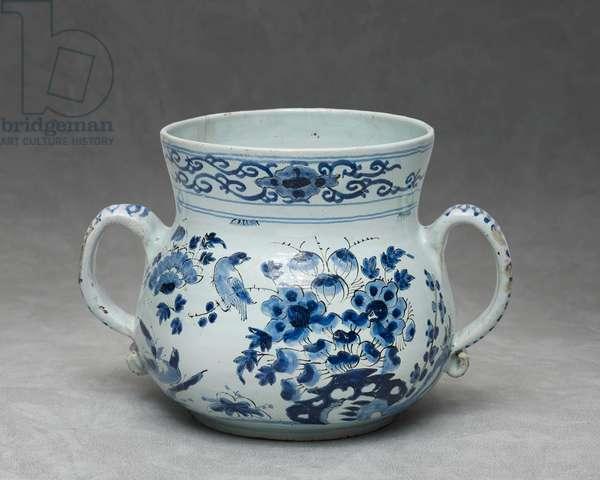 Posset pot, c.1696 (ceramic)