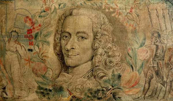 Francois Marie Arouet de Voltaire, c.1800 (tempera on canvas)