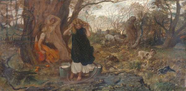 Only a Shower, 1869 (oil on canvas)