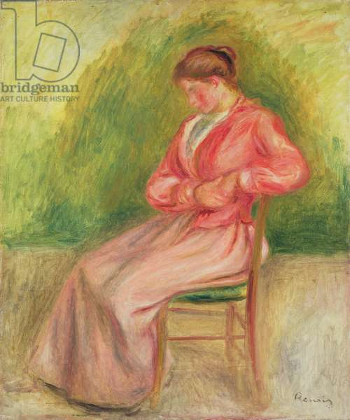 Seated woman (oil on canvas)