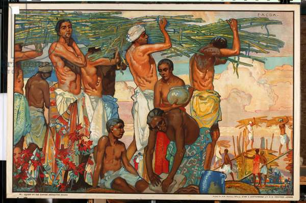 The Empire's Sugar Cane, from the series 'Sugar Growing in Mauritius', 1927 (colour litho)