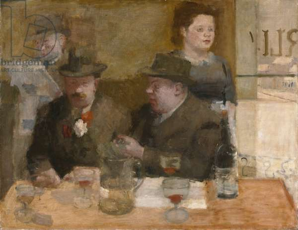 Parisian Cafe, 1936-37 (oil on canvas)