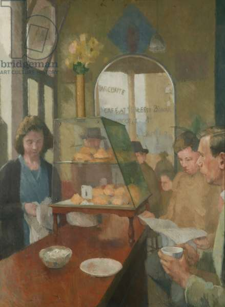 The Cafe (Cafe Conte, London) 1937-38 (oil on canvas)