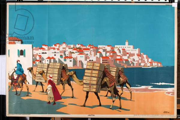 Jaffa, from the series 'Buy Jaffa Oranges' (colour litho)