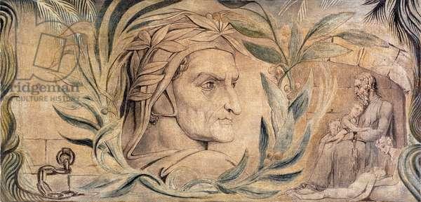 Dante Alighieri, c.1800-03 (pen & ink with tempera on canvas)