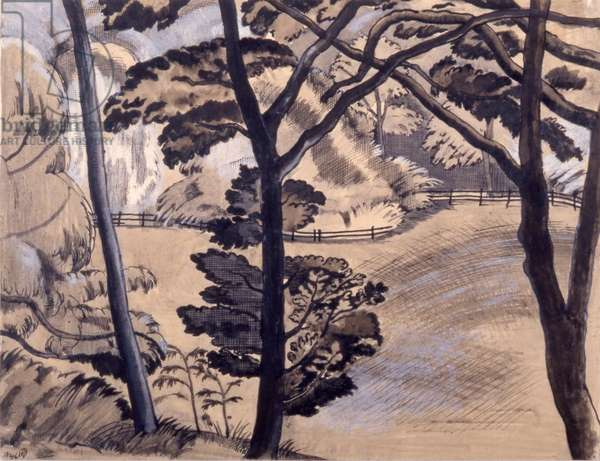 Edge of the Wood, 1914-15 (pen & ink and wash on paper)`