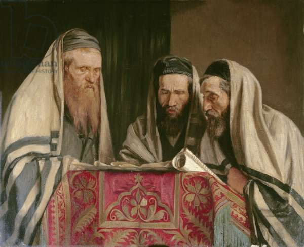Reading the Book of Esther, 1907-09 (oil on canvas)