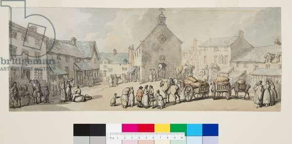 Market Place, Llanrwst, c.1797 (pen & black ink and w/c on paper)