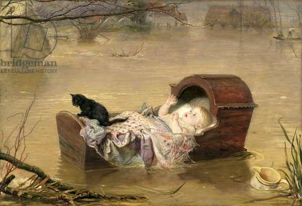 A Flood, 1870 (oil on canvas)