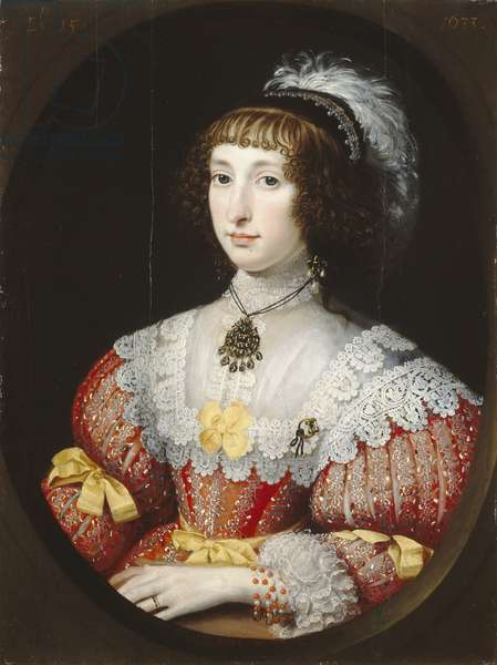 A Young Lady with a Plumed Headdress, 1633 (oil on panel)