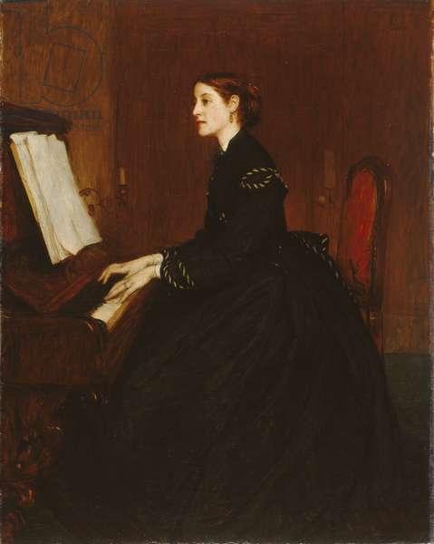 Mrs John Pettie, 1865 (oil on canvas)