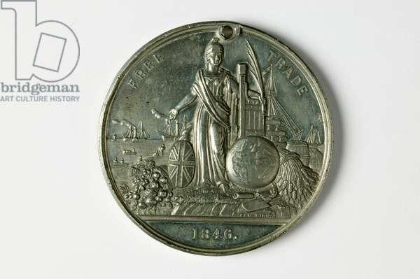 Free Trade Medal, 1846 (metal)