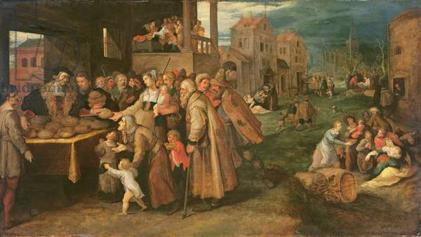The Seven Works of Mercy, c.1606-16 (oil on panel)