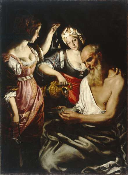 Lot and his Daughters, 1600-50 (oil on canvas)