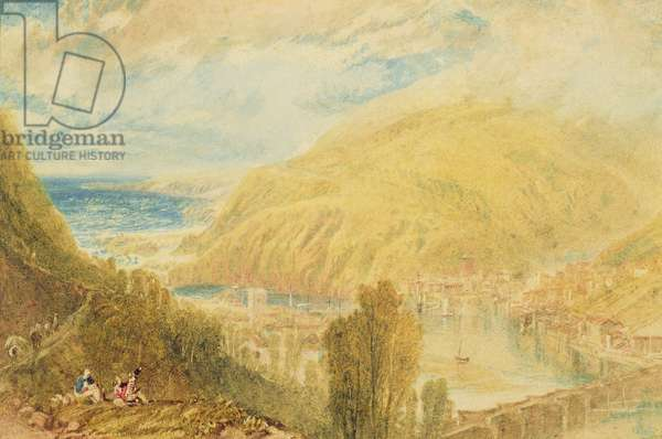 East and West Looe, Cornwall, c.1816 (w/c on paper)