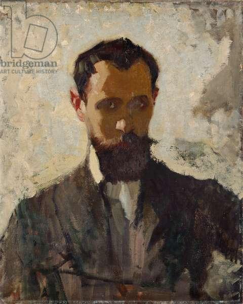 Self Portrait Study, c.1912 (oil on canvas)