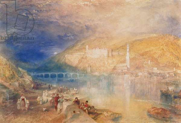 Heidelberg: Sunset, c.1840-42 (w/c and bodycolour on paper)