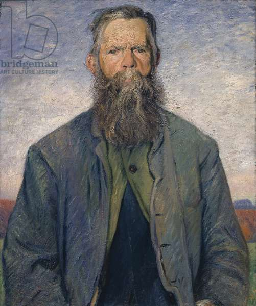Eli the Thatcher, 1913 (oil on canvas)