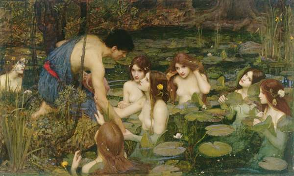 Hylas and the Nymphs, 1896 (oil on canvas)