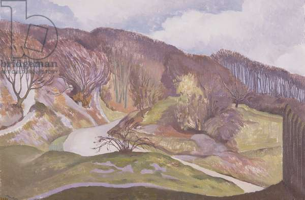 The Road up to Whiteleaf, Buckinghamshire, 1937 (oil on canvas)