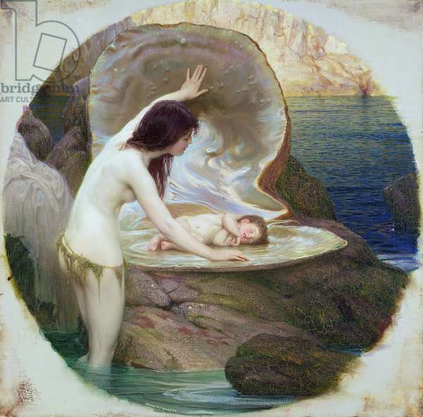 A Water Baby, c.1900 (oil on canvas)