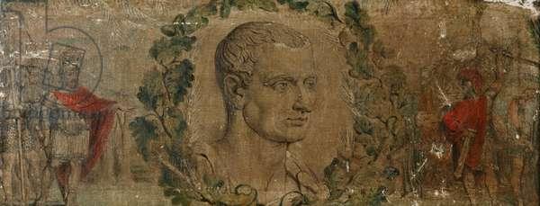 Marcus Tulius Cicero, (tempera on canvas)