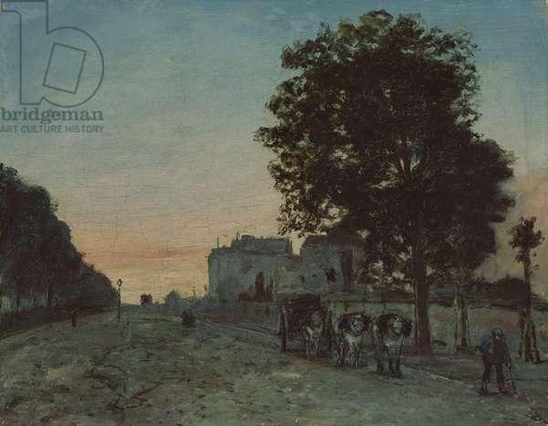 Le Boulevard Jourdan, Paris, 1865 (oil on canvas)