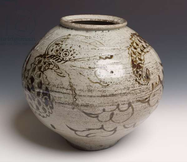 Dragon jar (glazed stoneware)